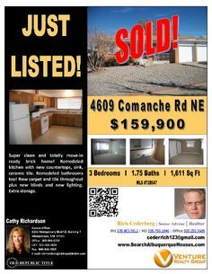 4609 Comanche RD NE has SOLD!
