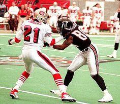 Deion Sanders and Andre Rison (Atlanta Falcons)