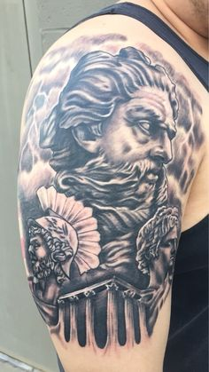 First session of my Greek mythology tattoo. Done by Ricky @ Painted Soul Tattoo. Will update when more sessions are completed.