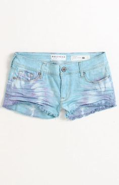 Bullhead Denim Co Ice Cream Tie Dye Fray Shorts at PacSun.com