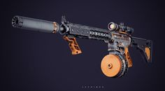 AR-Bdr Rifle, Lee Hinds on ArtStation at https://www.artstation.com/artwork/LOX3w