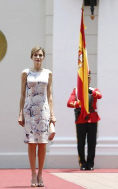 Queen Letizia during a visit to the presidential palace in El Salvador.