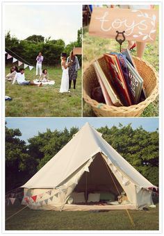 oh my goodness - that's it - jeff and i can stay in a tent like this on our wedding night! ADORABLE!