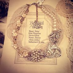 Vintage Pearl Wedding Statement Necklace