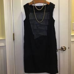 NWT Gap navy sleeveless dress GAP Brand-new never been worn navy sleeveless size 6 dress.  Pics don't do it justice. GAP Dresses