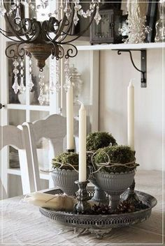 Grouping of items -- another example -- too formal for my decorating project, but this idea...