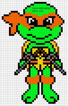 Minecraft Pixel Art Templates: Teenage Mutant Ninja Turtle Raphael