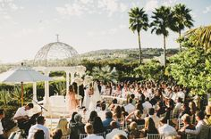 That's a setting and a half for a wedding ceremony- Jenny + Roman Married | Dana Point, CA » Manchik Photography