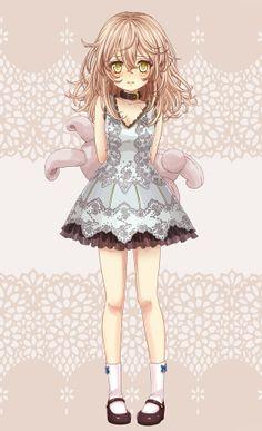 anime girl, bunny,cute,kawaii