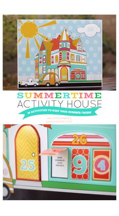 Summertime Activity House. 30 awesome activities to take you through the summer.