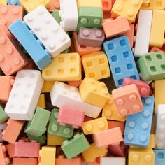 candy blocks shaped like legos (that actually interlock!) from dylan's candy bar $15