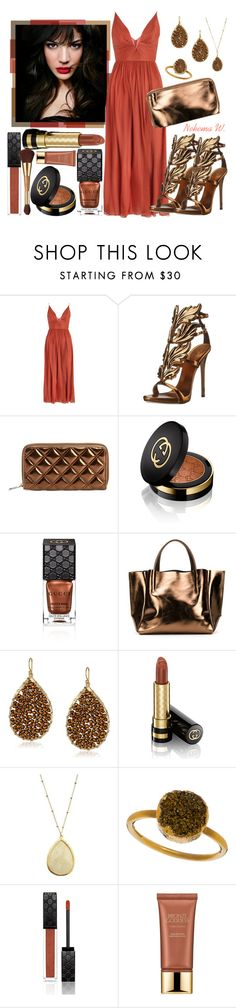 """Untitled #704"" by sexyshonda ❤ liked on Polyvore featuring IVI, Zimmermann, Giuseppe Zanotti, Marc Jacobs, Gucci, Ampersand As Apostrophe, Panacea, Janna Conner Designs, Estée Lauder and tarte"