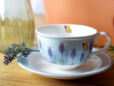 ROYAL-BOTANICAL-GARDENS-KEW-Lavender-FINE-CHINA-TEA-CUP-SAUCER-Gift-Set