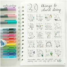 Ideas for bullet journal pages. I really like this idea, having something visual to refer to definitely increases the likelihood of me actually doing it. And if looks pretty, then well, I'll be forming habits without a doubt! Bullet Journal Décoration, Bullet Journal Harry Potter, My Journal, Journal Prompts, Journal Pages, Journal Ideas, Art Journals, Bujo, Filofax