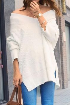 Cupshe Private Party Solid Color Knitting Sweater