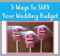 Five Ways To Slay Your Wedding Budget. Advice from a professional wedding planner on how to stay in budget!