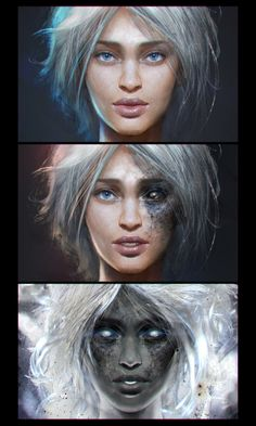 Meafala face transformations, Ekaterina Gudkina on ArtStation at http://www.artstation.com/artwork/meafala-face-transformations