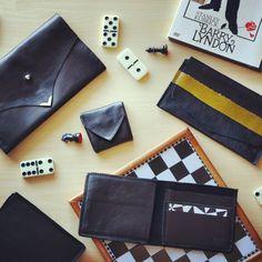 Black leather wallet / clutch  La Grassa Design  Handmade unique pieces  Solo pezzi unici  Slowfashion