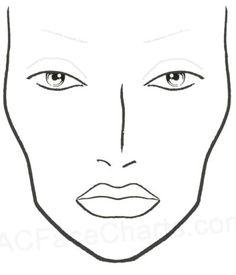 mac face chart: Mac face charts blank chart macfacecharts makeup pinterest