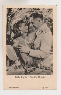 AK Schauspielerin Greta Garbo und Schauspieler Fredric March als Liebespaar Hollywood Cinema, Vintage Hollywood, Classic Hollywood, Fredric March, Greta, Film Institute, Bette Davis, Cary Grant, Female Stars