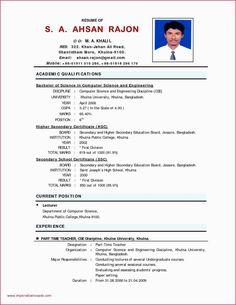 Biodata Form In Word Simple Biodata Format Doc