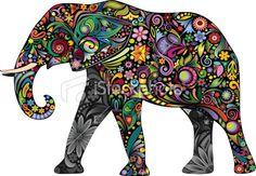 The cheerful elephant II Royalty Free Stock Vector Art Illustration