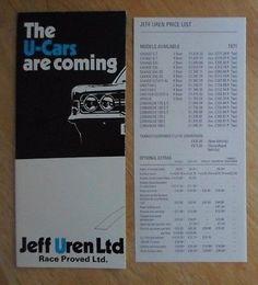 JEFF UREN SAVAGE CHEETAH APACHE 1971 Brochure + Prices Ford Cortina Escort Capri