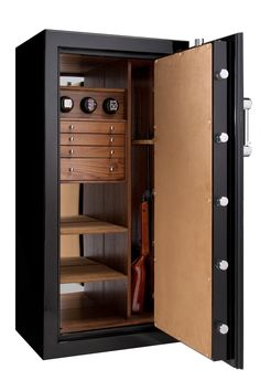 Ruby Jewelry Safe with 3 watch winders and 4 drawer configuration, and room for . Ruby Jewelry Safe with 3 watch winders and 4 drawer configuration, and room for long guns too. Perfect him & her luxury safe! Tall Cabinet Storage, Locker Storage, Hidden Safe, Vault Doors, Computer Armoire, Wardrobe Design, Jewelry Armoire, Jewelry Storage, Closet Designs