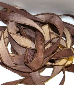 Vanilla Twist   42 inch silk ribbon By Color by ColorKissedSingles, $3.50