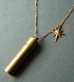 Brass North Star & Capsule Necklace by Larissa Loden on Scoutmob Shoppe: I think I'll store....