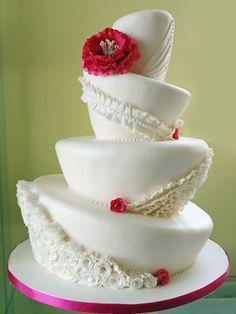 turvy wedding cake cake with sugar ruffles