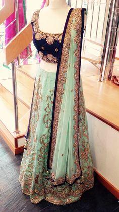 Ideas For Bridal Lehenga Choli Color Combinations Style Indian Bridal Lehenga, Pakistani Bridal, Pakistani Dresses, Indian Dresses, Indian Outfits, Indian Clothes, Lehenga Wedding, Anarkali, Lehenga Choli