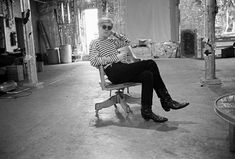 Andy Warhol in his factory