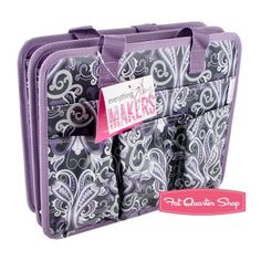 Purple Paisley Makers Tote With Handles Everything Mary #EVM10487-3 - Holiday Gift Guide | Fat Quarter Shop