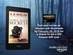Author A.B.Whelan: Prize for Reviews Giveaway: $25 Amazon Gift Card