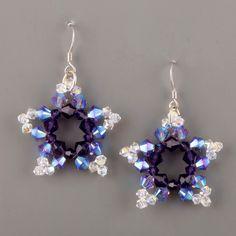 Swarovski earrings free tutorial