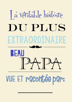 Moma le Blog - Cahier à imprimer pour les papas de Coeur!