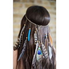 Collections by Hayley Boho Festival Feather Headpiece (105 RON) ❤ liked on Polyvore featuring accessories, hair accessories, hair, hair styles, hairstyles, multicolour, holiday hair accessories, boho hair accessories, feather hair accessories and bohemian hair accessories