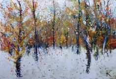 "Saatchi Art Artist Nadezda Kolesnikova; Painting, ""September snow"" #art"