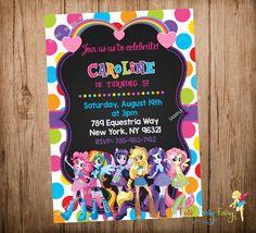 Equestria Girls Birthday Invitation Equestria by CutePartyFairy
