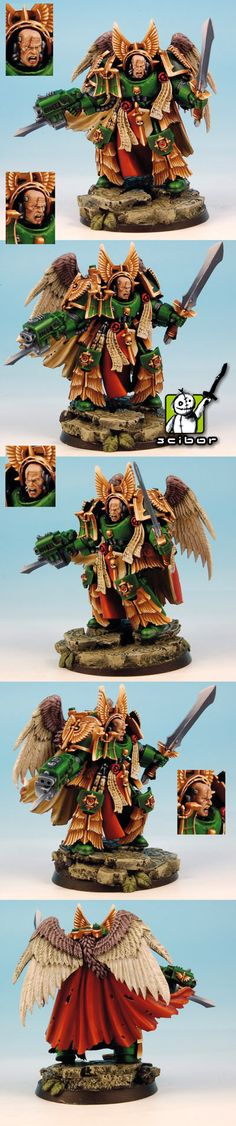 CoolMiniOrNot - 40K Dark Angels , Deathwing Master Terminator by Scibor