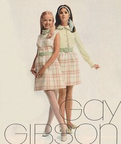 """justseventeen: """"October 'Gay Gibson's """"Ice Cream Parlour"""" plaids – a sweetly irresistable way to play the romantic dating game (he'll agree). 60s And 70s Fashion, Seventies Fashion, Pink Fashion, Teen Fashion, Retro Fashion, Vintage Fashion, Aesthetic Fashion, Aesthetic Clothes, Vintage 1950s Dresses"""