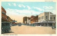 ABILENE, TEXAS Pine Street automobiles Curt Teich 15156 postcard Abilene Texas, West Texas, Old West, Pine, Automobile, Street View, Memories, Deep, World