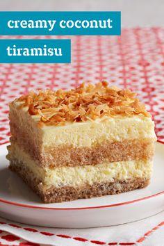 Creamy Coconut Tiramisu – What do you get when you cross creamy tiramisu with toasted coconut? A classic Italian dessert recipe with a tropical twist.