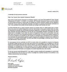 Chère/Cher Yoan Topenot, Félicitations! Nous sommes heureux de vous remettre la récompense MVP Microsoft® 2014! Cette récompense est accordée aux leaders d'exception de la communauté technique qui ...