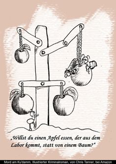 "Äpfel aus dem Labor. ""Mord am Ku'damm"". Illustrierter Kriminalroman. / Apples from the laboratory. ""Murder on the Kurfürstendamm"". Illustrated detective novel. www.gutenachtgeschichten24.com"