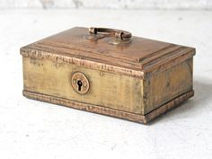 Jewellery Box unique collection of vintage furniture and interiors #jewellerybox #brass #decor #patina