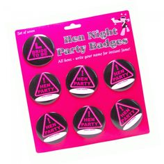 Hen Night Party Name Badges