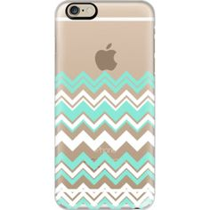 Mint White Chevron Transparent - iPhone 7 Case, iPhone 7 Plus Case, iPhone 7 Cover, iPhone 7 Plus Cover