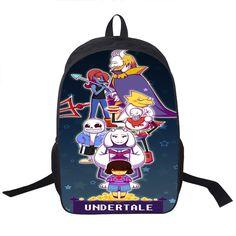 アニメundertaleティーンエイジャーの男の子の女の子スクールバッグsans女性男性旅行バッグundertale子供ランドセル